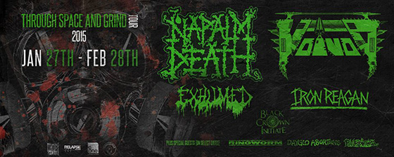 Napalm Death - Through Space and Grind Tour 2015